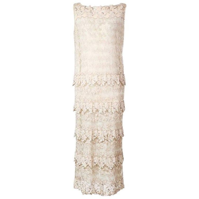 Pierre Balmain Flapper Dress with Beading and Embroidery