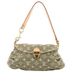 Louis Vuitton Pleaty Handbag Denim Mini