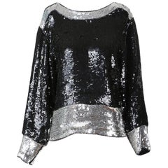 YSL Vintage Sequin Tunic Top