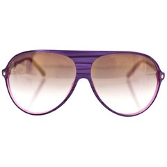 Christian Dior Purple Les Marquises Aviator Sunglasses