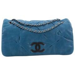 Chanel Glint Flap Bag Iridescent Calfskin East West