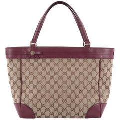 Gucci Mayfair Tote GG Canvas Wide