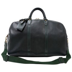 Louis Vuitton Kendall PM Dark Green Taiga Leather Travel Bag + Strap