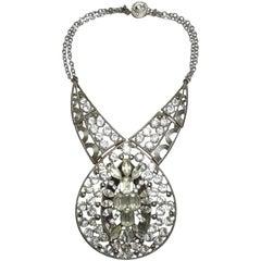 La Marquise Vintage Rhinestone Drop Necklace