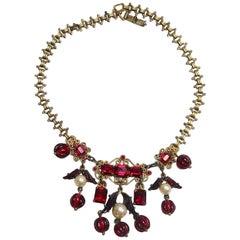 Art Deco Vintage 1930s French Drops Necklace