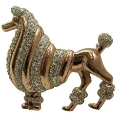 Vintage Rare Book Piece CoroCraft Sterling French Poodle Brooch