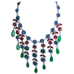 Kenneth Jay Lane Tutti Fruity Bib Necklace