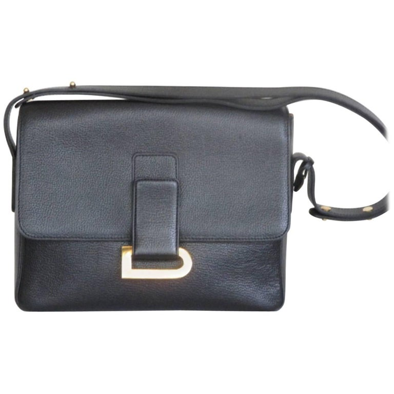 delvaux poirier black leather shoulder bag, 1999