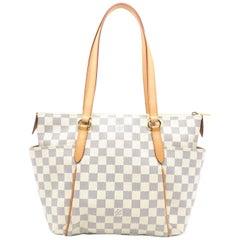 Louis Vuitton Totally PM White Damier Azur Shoulder Bag