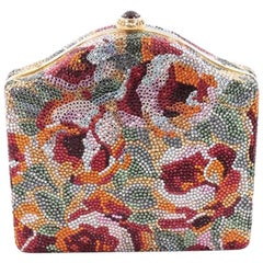 Judith Leiber Floral Minaudiere Crystal Small