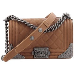 Chanel Paris-Dallas Boy Flap Bag Quilted Calfskin with Metal Adornments S
