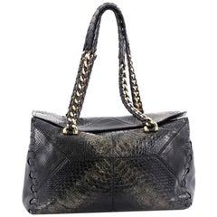 Roberto Cavalli Regina Shoulder Bag Python Medium