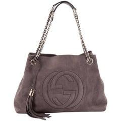 Gucci Soho Shoulder Bag Chain Strap Nubuck Medium