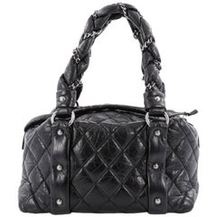 Chanel Lady Braid Bowler Bag Quilted Leather Small