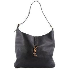 Saint Laurent Classic Monogram Hobo Leather Medium