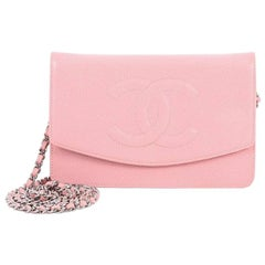 Chanel Vintage Timeless Wallet on Chain Caviar