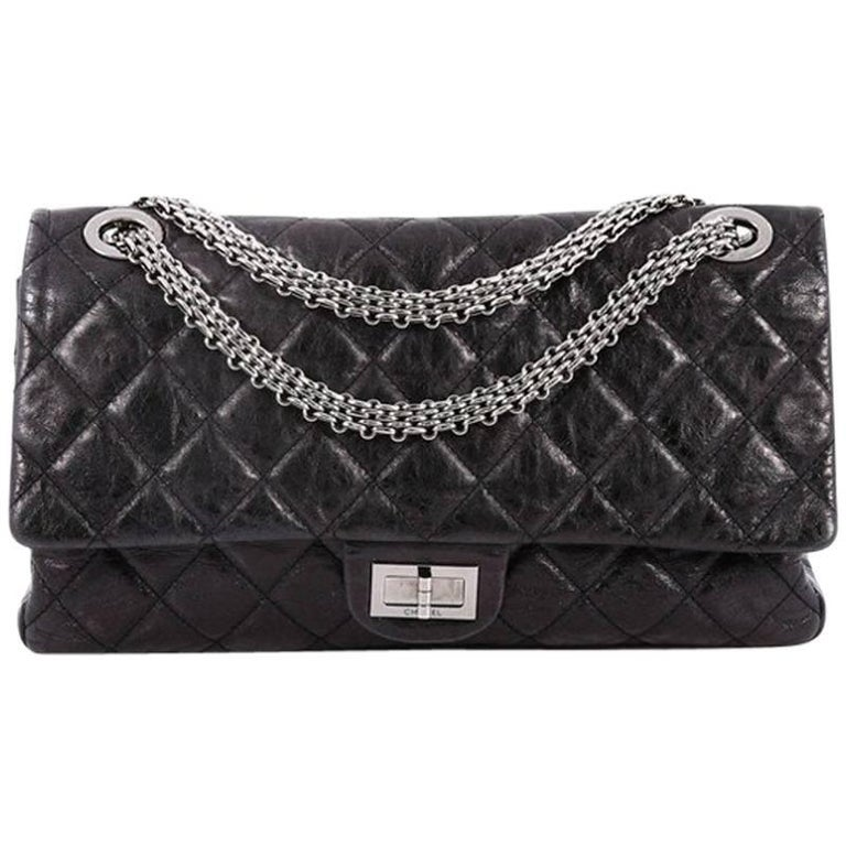 6be71464319f75 Chanel Reissue 2.55 Handbag Quilted Aged Calfskin 228 at 1stdibs