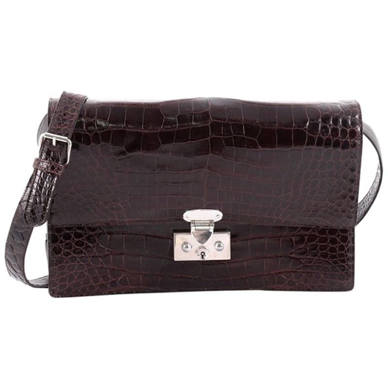 1stdibs Brown Alligator Rectangular Handbag Za5wV0xR