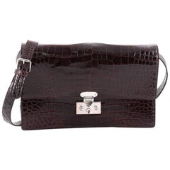 Ralph Lauren Collection Convertible Flap Clutch Alligator Medium