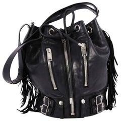 Saint Laurent Rider Bucket Bag Fringe Leather Large