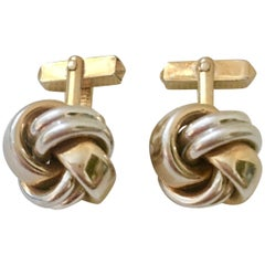 "Vintage Pair Of  ""Love Knot"" Cuff Links By, Swank"