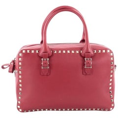 Valentino Rockstud Convertible Zip Satchel Leather Medium