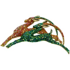 Butler Wilson Iconic BW Sparkling Diamante Deer Statement Brooch Pin