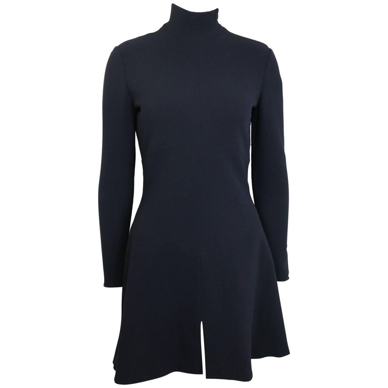 Chanel Black High Neck Long Sleeves Dress For Sale At 1stdibs