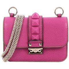 Valentino Glam Lock Shoulder Bag Leather Mini