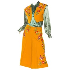 1940s Marge Riley Hand Embroidered Western Suit