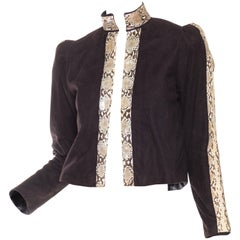 1970s Snakeskin and Suede Jacket