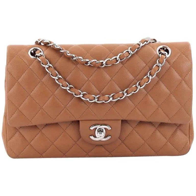 14003844b85b Chanel Classic Flap Bag Calfskin Quilted Caviar Medium Handbag ...
