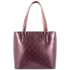Louis Vuitton Mat Stockton Handbag Monogram Vernis
