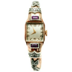 Gold, Diamond and Ruby Ladies' Watch
