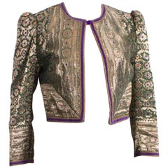 Regamus London Jacket in Gold Thread with Floral Pattern