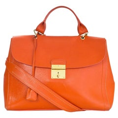 Marc Jacobs Orange Leather 1984 Satchel Bag