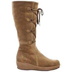 Tan La Canadienne Suede Winter Boots