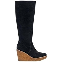 Black Vince Camuto Tall Suede Boots