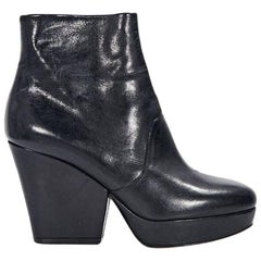 Black Maison Margiela Leather Ankle Boots