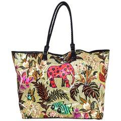 Etro Jungle Print PVC Beach Tote Bag