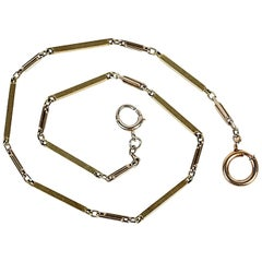 Solid 14K Gold Watch Chain