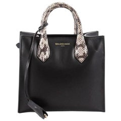 Balenciaga Padlock Nude All Afternoon Tote Leather with Snakeskin Mini