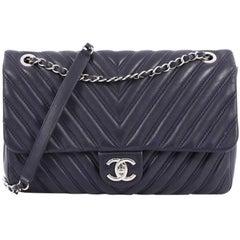 Chanel Double Stitch Flap Bag Chevron Lambskin Jumbo