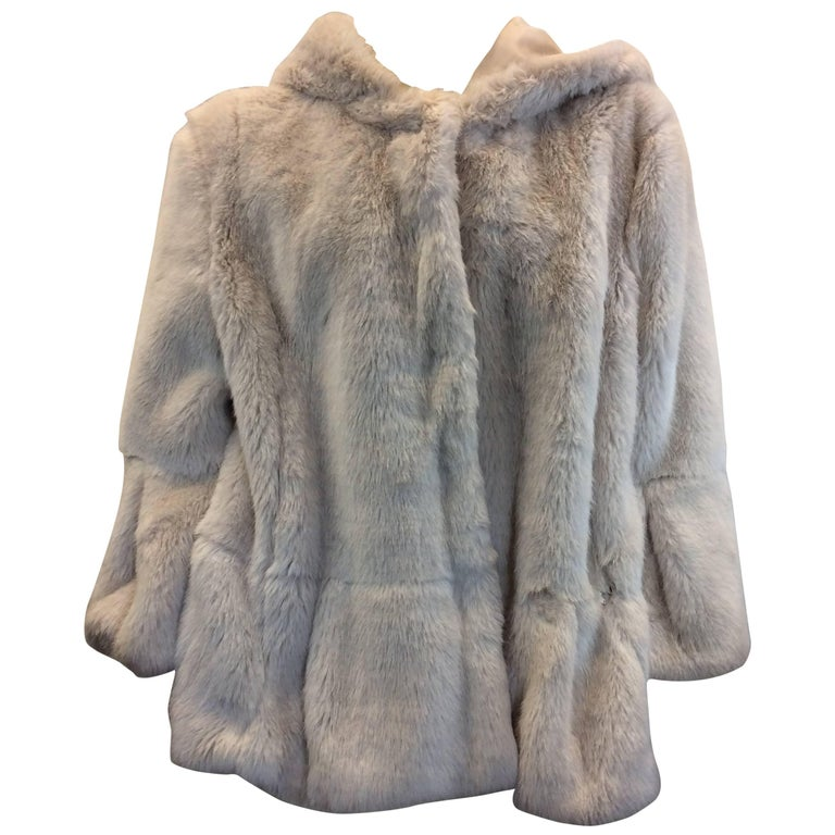 Twin Set Faux Fur Swing Coat For Sale At 1stdibs