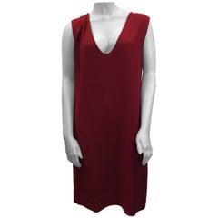 Chloe Red Crepe Scoop Dress
