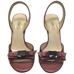 Prada Pink Ombre Patent Bow Heels