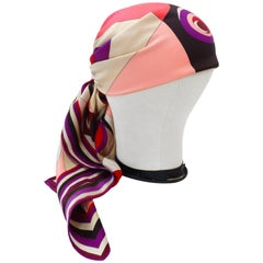 1990s Geometric Pucci Silk Scarf