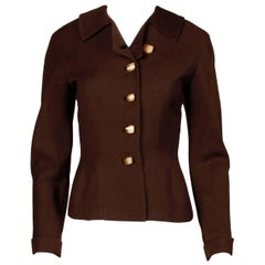 1950s Cari Colette Vintage New Look Brown Wool Tailored Jacket