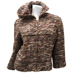 New Chanel Jacket - Boucle - Fall Colors - Silver Tone Fabric