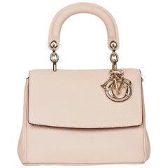 2014 Dior Rose Poudre Grained Calfskin Mini Be Dior Flap Bag